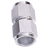 Aeroflow AF131-16S Straight Female Flare -16AN Silver Swivel Coupler