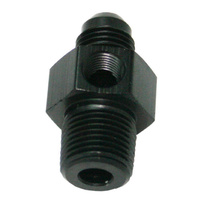 "Aeroflow AF139-06-08BLK Male 3/8""NPT to -6AN 1/8"" Port Black 3/8"" to -6AN 1/8"" Port"