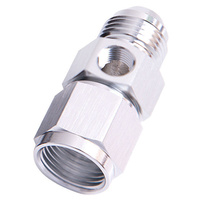 "Aeroflow AF140-04S Straight Female - Male -4AN Silver with 1/8"" NPT Port"