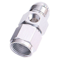 "Aeroflow AF140-06S Straight Female - Male -6AN Silver with 1/8"" NPT Port"