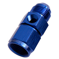 "Aeroflow AF140-12 Straight Female - Male -12AN Blue with 1/8"" NPT Port"
