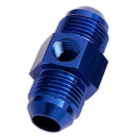 "Aeroflow AF141-06 Straight Male - Male -6AN Blue with 1/8"" NPT Port"