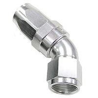 Aeroflow AF152-20S 45 Deg Hose End -20AN Silver Full Flow Taper Style