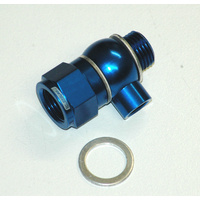 "AEROFLOW CHEVY/HOLDEN LS OIL PRESSURE ADAPTER 1/8"" NPT PORT BLUE AF166-05-02"