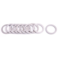 "AEROFLOW ALUMINIUM CRUSH WASHERS -10AN 22mm (7/8"") I.D  10 PACK AF177-10"