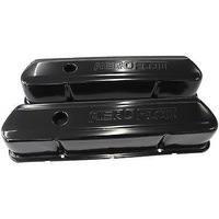Aeroflow AF1822-5004 Holden 253-308 Black Steel Valve Covers with Aeroflow Logo