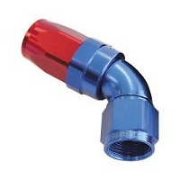 AEROFLOW 150 SERIES TAPER STYLE 60° HOSE END -10AN BLUE/RED AF198-10
