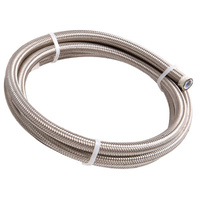 200 Series PTFE Stainless Steel Braided Hose -4AN (6 Metre Length) (AF200-04-6M)