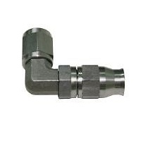 Aeroflow AF203-03 SS 90 Deg Hose End -3AN Steel Swivel Nut Suit Teflon
