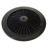 "AEROFLOW FULL FLOW AIR FILTER TOP PLATE WASHABLE 9"" BLACK AF2251-0901"