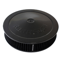 "AEROFLOW 14"" x 3"" BLACK AIR FILTER ASSEMBLY DROP BASE BLACK ELEMENT AF2251-1280"