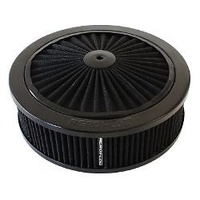"AEROFLOW BLACK AIR FILTER ASSEMBLY 9X2-3/4"" 5-1/8""NECK WASHABLE AF2251-3150"