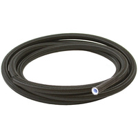 Aeroflow AF250-08-30M Black Braided Teflon Hose -8AN SS 30M Clamshe Pack 14.4mm OD