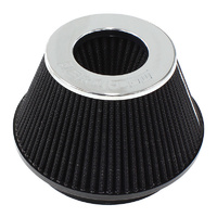 "Aeroflow AF2811-1009 6"" Clamp-On Tapered Filter 7.6 / 4.7"" O.D 4"" High Chrom"