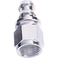 AEROFLOW 400 SERIES PUSH LOCK STRAIGHT -6AN HOSE END SILVER AF401-06S