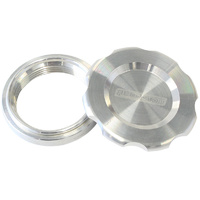 "AEROFLOW 1.5"" LOW PROFILE BILLET ALLOY FILLER CAP & BUNG AF465-24 RAW FINISH"