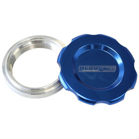 "AEROFLOW 1.5"" LOW PROFILE BILLET ALLOY FILLER CAP & BUNG AF465-24BL BLUE FINISH"