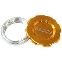 "AEROFLOW 1.5"" LOW PROFILE BILLET ALLOY FILLER CAP & BUNG AF465-24G GOLD FINISH"