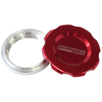 "AEROFLOW 3"" LOW PROFILE BILLET ALLOY FILLER CAP & BUNG AF465-48R RED FINISH"
