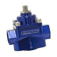 AEROFLOW BILLET FUEL PRESSURE REGULATOR 4.5-9PSI -8ORB PORTS BLUE AF49-3000