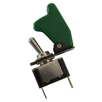 AEROFLOW GREEN COVERED MISSILE SWITCH 12v 20A AF49-5005