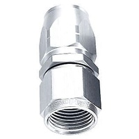 Aeroflow AF501-04S Alloy Straight Hose End -4AN Silver Cutter Style Swivel Nut