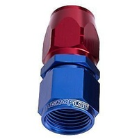 Aeroflow AF501-12 Alloy Straight Hose End -12AN Blue Cutter Style Swivel Nut