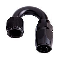 AEROFLOW 500 SERIES CUTTER STYLE 180° HOSE END -6AN BLACK AF506-06BLK