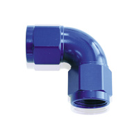 AEROFLOW 90° FULL FLOW FEMALE COUPLER -10AN BLUE AF583-10