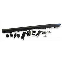 Aeroflow AF64-2004BLK Fuel Rail Kit Ba-Bf Black Ford 6 Cylinder