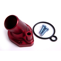 Aeroflow AF64-2033R Billet Thermostat Housing Red suits 45 Deg Windsor