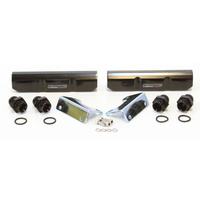 Aeroflow AF64-2058BLK Black Subaru Ej20 Fuel Rail Kit. Top Feed