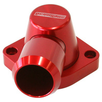 AEROFLOW 90° BILLET THERMOSTAT HOUSING CHEV/HOLDEN LS 5.7-6L RED AF64-2092R