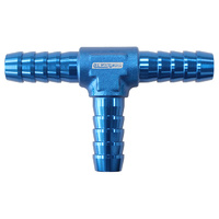 "Aluminium Barb T-Piece - Blue (3/8"" (10mm)) (AF64-4205)"