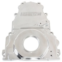 AEROFLOW 2 PCE ALLOY TIMING COVER AF64-4361P POLISHED SUIT GM LS1/LS2/LS3/LS6 V8