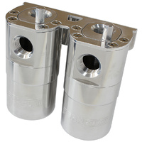 Aeroflow AF64-4364 Catch Can Billet Dual Air / Oil Separator