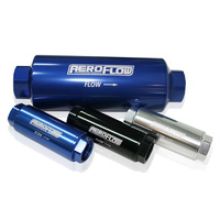 "AEROFLOW 100 MICRON PRO FILTER 7"" x 2.5"" WITH -12AN ORB PORTS BLUE AF66-2043"
