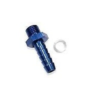 Aeroflow AF746-01 Metric M14 x 1.5 to 8mm Barb Blue Use with 49-1015 Pump