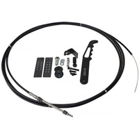 AEROFLOW 18FT PARACHUTE RELEASE CABLE KIT BLACK BILLET HANDLE AF80-1000BLK