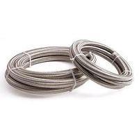 Aeroflow AF800-06-1M #6 Nylon Braided A/C Hose Stainless Outer 1 Meter Length