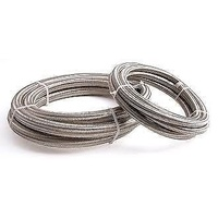 Aeroflow AF800-08-2M #8 Nylon Braided A/C Hose Stainless Outer 2 Meter Length