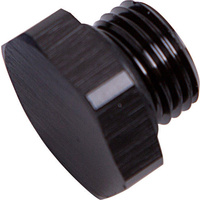 Aeroflow AF814-10BLK ORB Hex Port Plug -10AN Black Finish