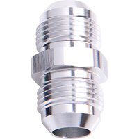 Aeroflow AF815-06S Male Flare Union -6AN Silver -6AN to -6AN Straight