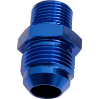 "AEROFLOW MALE FLARE -6AN TO 3/8"" NPT BLUE AF816-06-06"