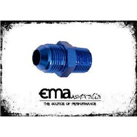 "AEROFLOW MALE 1/4""NPT TO MALE -6AN ADAPTOR STRAIGHT BLUE AF816-06"