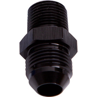 "Aeroflow AF816-08-02BLK Male Flare -8AN to 1/8"" NPT Black Male Flare to NPT Adapte"