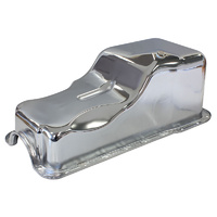 Aeroflow AF82-9078C Stock Oil Pan Ford 289-302W Front Sump Chrome