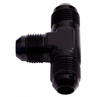 "AEROFLOW TEE WITH NPT ON RUN 1/8"" TO -4AN NPT BLACK AF826-04BLK"