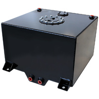 Aeroflow AF85-2100ABLK Black Alloy Fuel Cell 38 Litre10 Us Gallons with Cavity/Sump