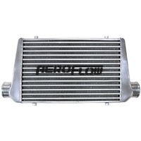 "Aeroflow AF90-1001 450 x 300 x 76mm 3"" In/Out Aluminium Intercooler Polished"